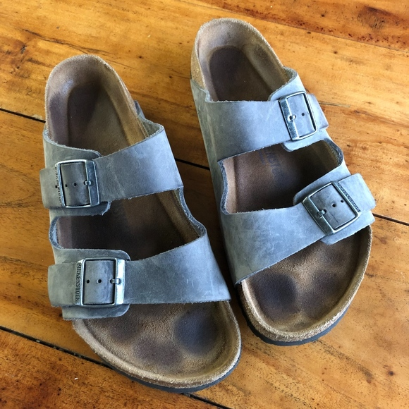 320e9377940d Birkenstock Other - Birkenstock Arizona Nubuck Leather Sandals Size 12